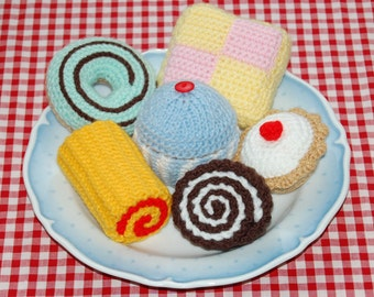 Knitting & Crochet Patterns for a Selection of Cakes - Knitted Toy / Play Food / Tea Time Treats / Toy Food