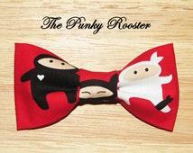 Ninja Bow Tie, Clip on Bow Tie, Boys Bow Tie, Toddler Bow Tie, Infant Bow Tie, Superhero, Karate, Boys Clothing