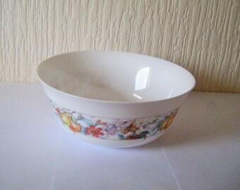 Vintage Arcopal Large Glass Serving Bowl EVE Pattern