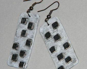 Earrings Distressed Boho Polymer Clay Mid Century Modern Jewelry Women Casual Dangles ASCEND by ArtCirque Donna Pellegata