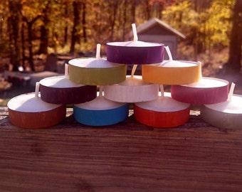 Colored Tea Lights