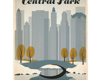 New York City Central Park Wall Decal #42220