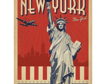 New York City Statue Liberty Wall Decal #42227