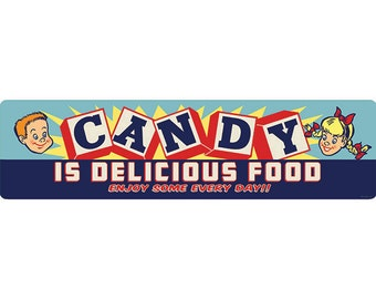 Candy Is Delicious Food Kids Wide Wall Decal #44360