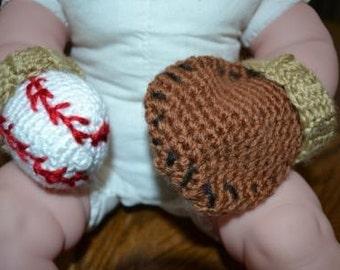 Newborn Ball and Glove mitts