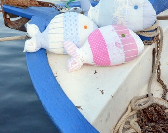 Fat Fish Pillow - 100% cotton handmade pillow