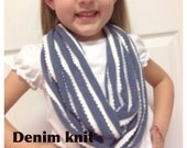 Knit Double Loop Children's Infinity Scarf
