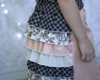 Vintage Ruffle skirt pattern - Yesteryear Collection - PDF pattern