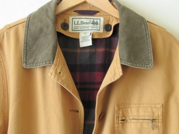 Vtg Womens Ll Bean Field Jacket Sz M Barn Coat Chore L L