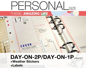 LMIv01-PERSONAL-Amazing Life Theme - Inserts Refills 9-IN-1 set Filofax Collins