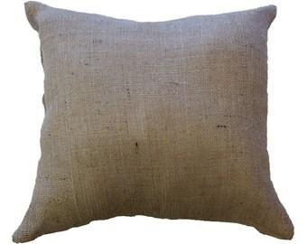 "18"" x 18"" Burlap Cushion (x2)"