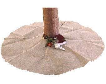 "60"" Diameter Burlap Tree Skirt"