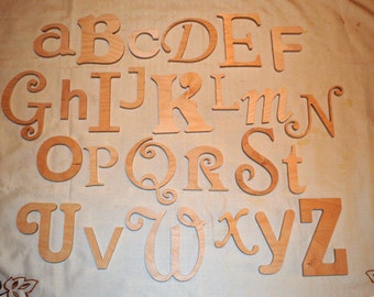 Wooden Letter Alphabet, Unfinished Various font,s Various size, Letters Childrens Decor- at the BEST Price