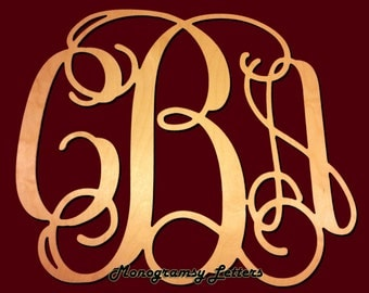 """Extra Large (24"""") Wooden Monogram-Ready to Paint-Monogram your Home"""