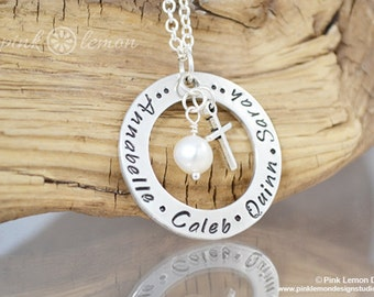 Mommy Necklace - Personalized Necklace - Hand Stamped Jewelry - Mother's Necklace - Mommy Jewelry - Grandmother's Necklace - Gifts for Mom