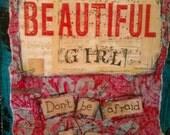 Beautiful Girl Art Card