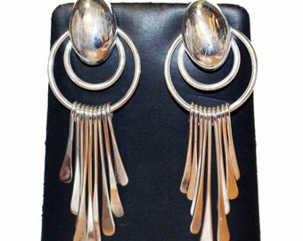 Estate Chandelier 925 Silver Earrings