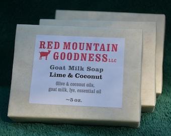 Lime & Coconut Goat Milk Soap