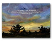 Sympathy Card - Spiritual Quote - Watercolor Quote Card - Also Available as a Print with a free Mat or a Quote Block (WCQ004)