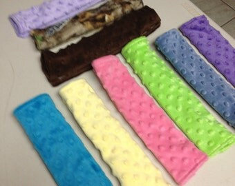 Minky car seat belt strap cover adults,children,babies~ choose size/color~free shipping on two or more