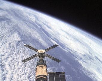 Skylab Orbital Workshop in Orbit 12x12 Space Poster