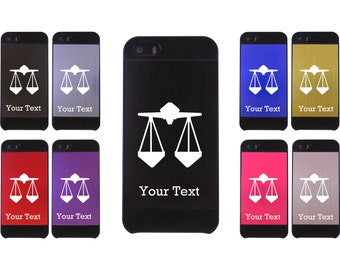 Personalized Engraved Libra Astrology Sign Aluminum Case Cover for iPhone 4/4s or iPhone 5/5s
