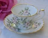 Cup and Saucer - Royal Kendal  - Dogwood - English Bone China - Vintage