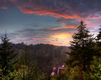 Dream Within A Dream- Fine Art Photographic Print, Sunset Landscape Blackwater Falls West Virginia