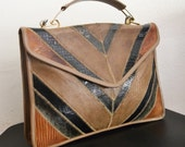 Free Ship Vintage Veron Purse Authentic Snakeskin and Reptile Leather Shoulder Handbag