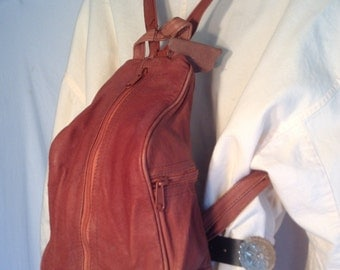 Backpack bag,leather backpack, Brown ,vintage leather back pack, bag, purse