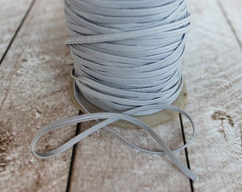 Gray Skinny Elastic 1/8 inch - Elastic For Baby Headbands - 5 Yards