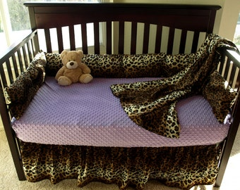 Leopard Baby Bedding (16 sheet color options)