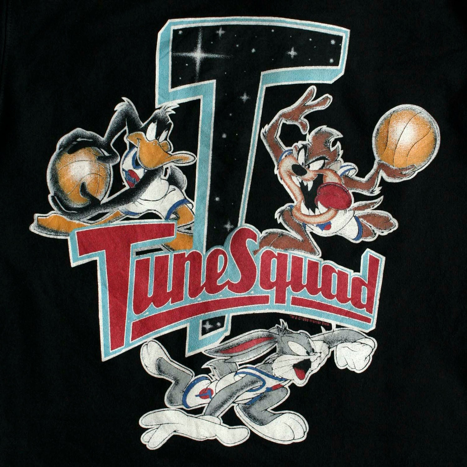 Vintage 90s space jam tune squad sweatshirt sweater michael for 90s house tunes