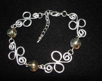 Cristal Beads Wire Wristband