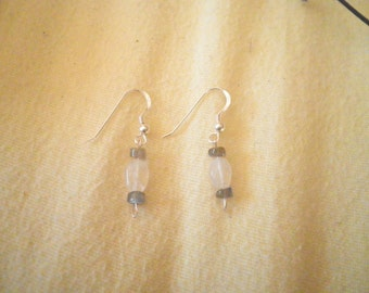 Sterling Silver Moonstone Labrodorite Earrings
