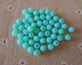 50Pcs Green  Acrylic Beads -8mm (S025)