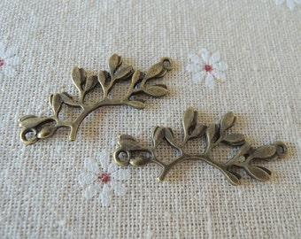 8pcs38x16mm Antique Bronze tree  branch ( A104)