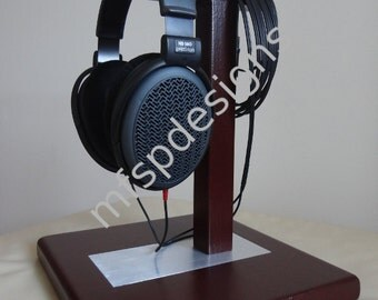 Headphone stand - wood with aluminum