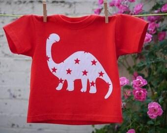 Kids Red Dinosaur T-shirt
