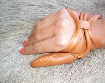 Women's Fashion Fingerless Leather Gloves