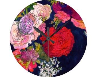 You Promised Me Roses // Circular Wall Clock