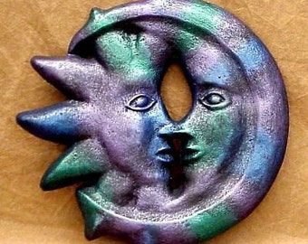 Celestial Collection Sun Moon Merging Sculpture Decor