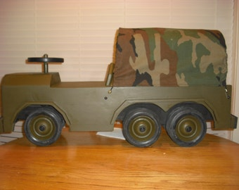 Wooden Toy Truck 6 X 6 Deuce