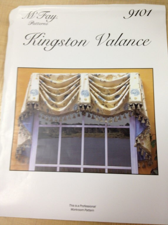 M 39 fay pattern 9101 kingston valance for Professional window treatment patterns