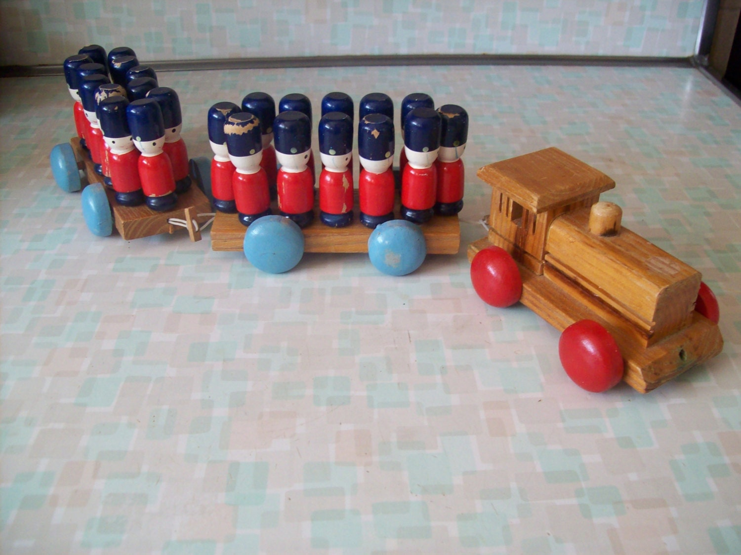 wooden toy soldiers christmas tree decorations