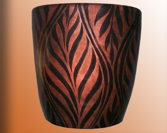 Copper and Black Flower Pot