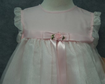 Pink dress 4T VINTAGE NEW with tags