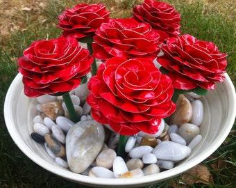Half Dozen Red Roses - Duct Tape Pens