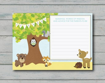 Spring Baby Shower Comment Card