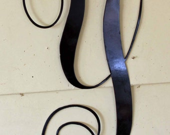 """Black Script Metal Letter """"Y"""" Door or Wall Hanging"""